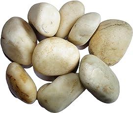 Maalavya 2kg White River Stone Aquarium Water Stone Pebbles Gravel Chips