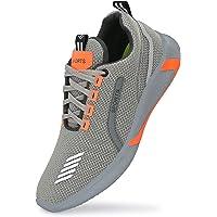 HRAVSO Men's Grey Walking, Gym Comfortable Casual Symbol Men's Sport Shoes - GRSKP
