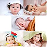 Giant Innovative Paper Cute Baby Poster, Multicolour, Abstract, 12 x 18 inch, Set of 5