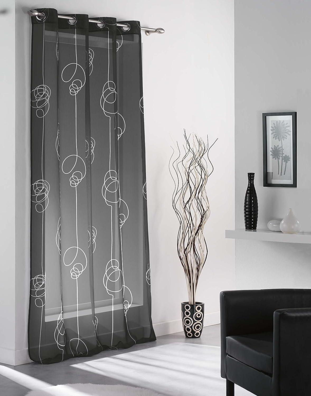 rideau noir et blanc tringle rideau noir luxe rideau fils noir ou blanc passe tringle grande. Black Bedroom Furniture Sets. Home Design Ideas