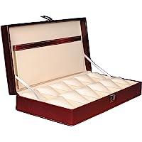 Hard Craft Watch Box Case PU Leather - Maroon