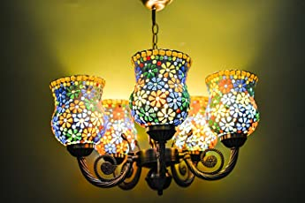 Chandelier buy chandeliers online at low prices in india amazon generic metal 5 lights chandelier multicolour aloadofball Images