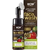 WOW Skin Science Apple Cider Vinegar Foaming Face Wash - with Organic Certified Himalayan Apple Cider Vinegar - No Parabens,
