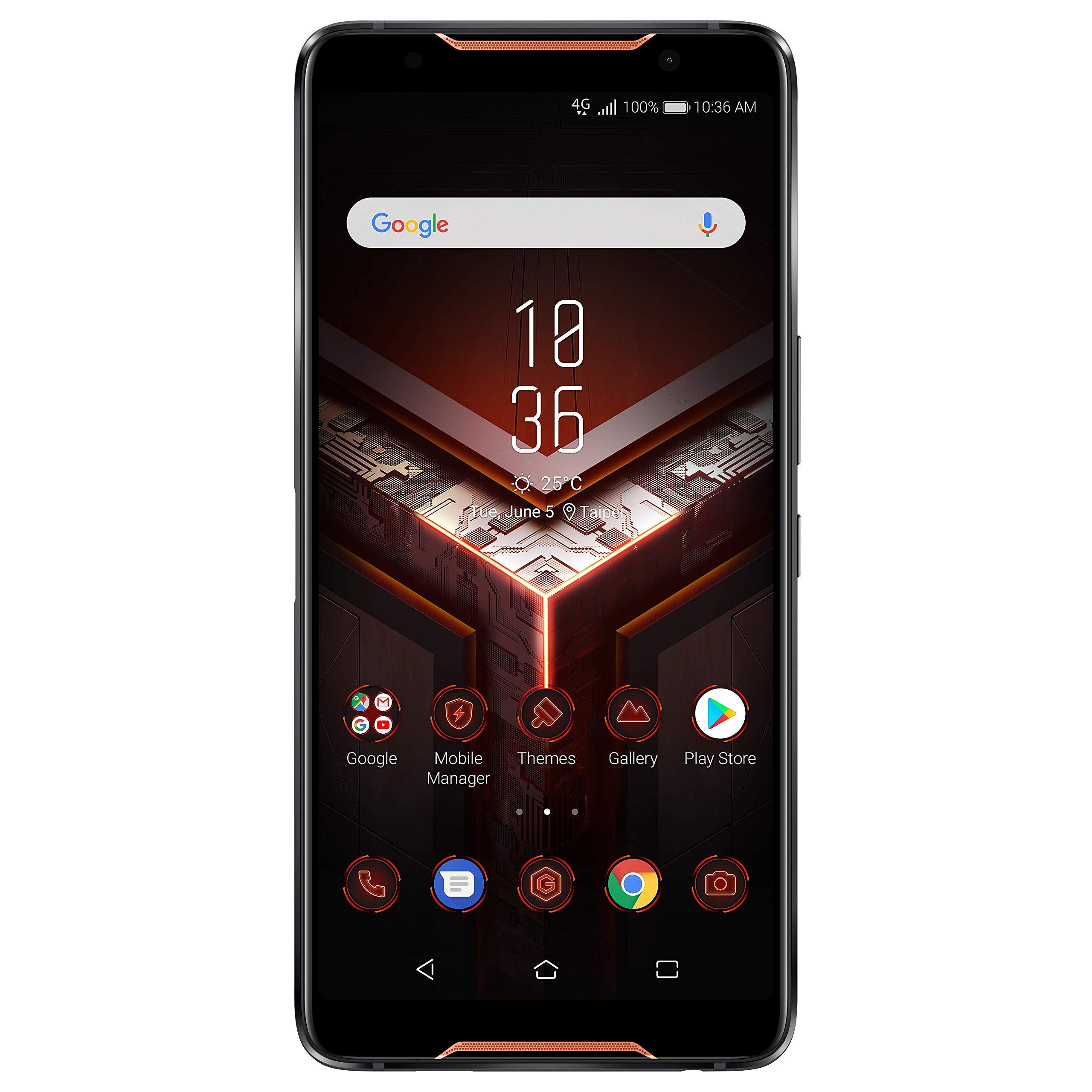 Asus ROG Phone Smartphone Débloqué 4G (Ecran : 6 pouces – 128 Go – Double Nano-SIM – Android 8.1) Noir