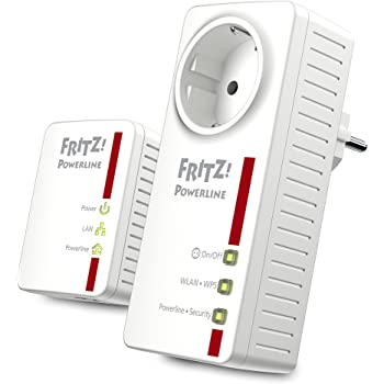 AVM Fritz!Powerline 546E/510E WLAN Set/(500 Mbit/s, WLAN-Access Point, Fast-Ethernet-LAN, Intelligente Steckdose)