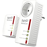 AVM FRITZ!Powerline 546E / 510E WLAN Set /  (500 MBit/s, WLAN-Access Point, Fast-Ethernet-LAN, intelligente Steckdose)