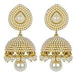 Shining Diva Stylish Fancy Party Wear Traditional Pearl Jhumki/Jhumka Earrings For Girls & Women