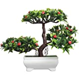 Foliyaj Artificial Plant Bonsai Tree with Pot for Home Décor Living Room (23 cm x 10 cm x 23 cm, FYJ-WPT-B…