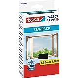 tesa Insect Stop Zanzariere Attacca & Stacca STANDARD per Finestre - Zanzariera Adesiva - Rete per Zanzariera Regolabile a Pi