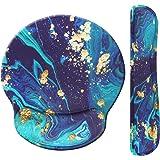 Jahosin Repose-poignet et tapis de souris avec support de poignet, confortable et ergonomique en mousse à mémoire de forme, t