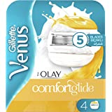 Gillette Venus & Olay women's razor blade refills, 4 count, Yellow/White