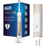 Oral-B Genius X Elektrische Zahnbürste, mit künstlicher Intelligenz und Premium Lade-Reise-Etui, rose gold