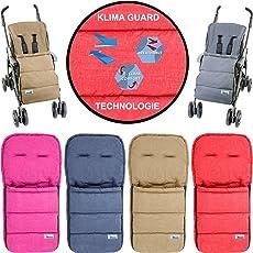 Fußsack / Sommerfußsack (Mit KLIMA GUARD - TECHNOLOGIE) für Kinderwagen / Buggy / Jogger Kinder