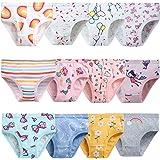 Zebricolo, Mutandine Bambina 2 Anni, -7 Anni, Mutande Bambina, Confezione da 6 Casuali, Mutandine Bambina, Modello Simpatico