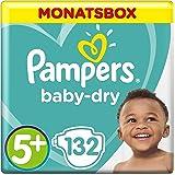 Pampers Baby-Dry Windeln, Gr. 5+, 12-17kg, Monatsbox, 1er Pack (1 x 132 Stück)