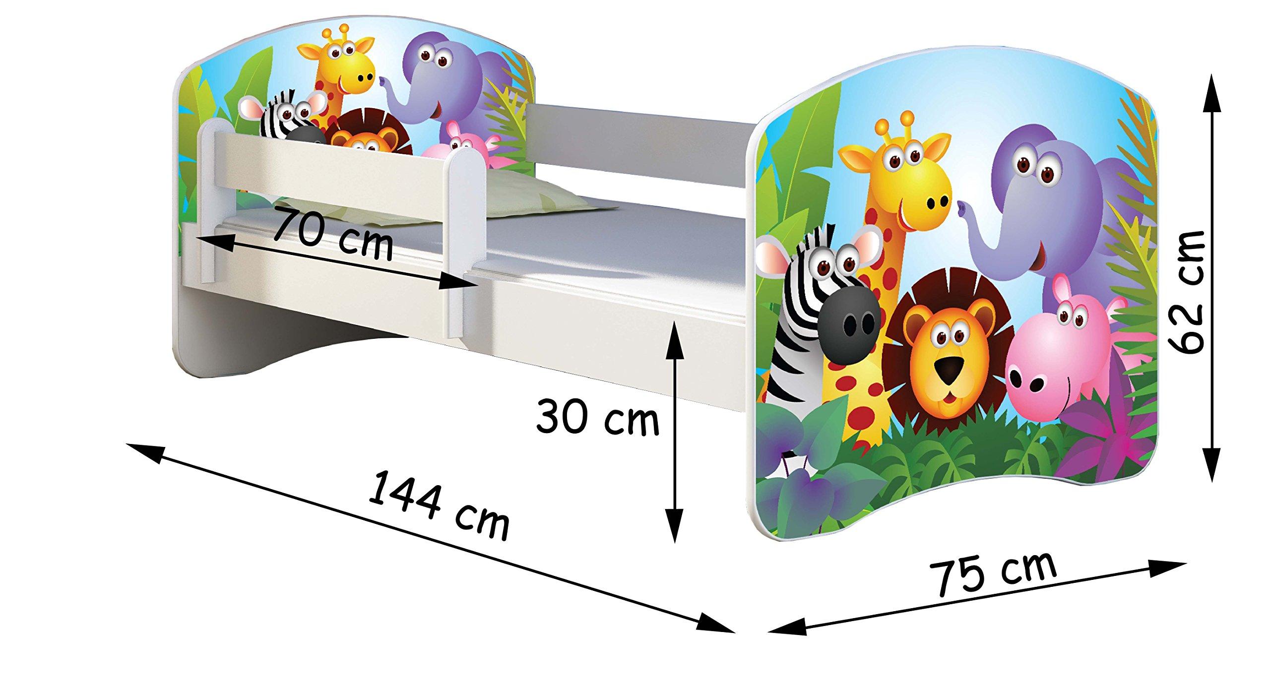 CHILDREN TODDLER KIDS BED + FREE MATTRESS 140x70 (30 Dinosaurs) ACMA  4