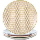 Vancasso, série Natsuki, assiettes plate, 4 pièces, en porcelaine, style japonais