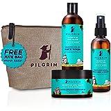Pilgrim Korean Beauty Daily Face Care Kit | Cleansing Gentle Exfoliating Face Wash 100ml, Pore Tightening Face Mist & Toner 1