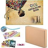 ZUNTO Album Fotografico Fai da Te, Our Adventure Book Scrapbook Album Foto(19x30cm, 80 Pagine), Fascia Decorativa in Pizzo, A