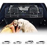 Relaxdays Grille de s/éparation voiture pour chien filet pour chien transport auto s/écurit/é du trajet coffre de voiture banquette arri/ère hauteur r/églable noir