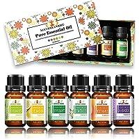 ALENYK Huile Essentielle, Set de 6 Huile Essentielle Bio avec Coffret Cadeau Aromathérapie Huile Parfumé Naturelles, Six…