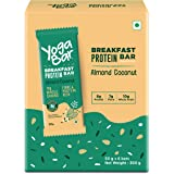 Yogabar Breakfast Protein-Bar Almond Coconut - Wholegrain Low Fat Snacks with Millets and Oats, High in Protein (8g) and Fibr