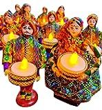JH Gallery Handmade Recycled Material Puppet Diyas Rajasthani Dolls Tealight/Diya/Diwali Diya/Festive Diya/Lightining…