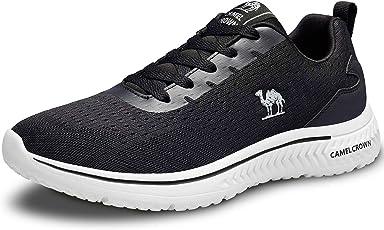 CAMEL CROWN Damen Leicht Laufschuhe Atmungsaktiv Schnürer Sportschuhe Rutschfest Sneaker