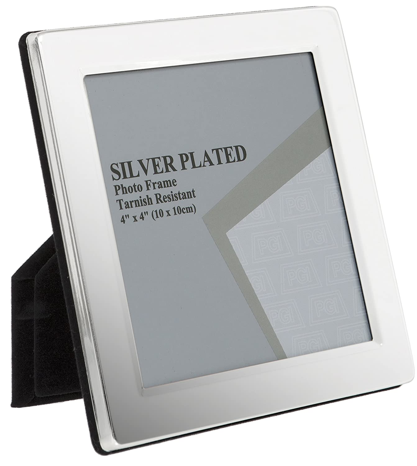 High Quality Unity 4 X 6 Inch Flat Edge Photo Frame, Silver Plated