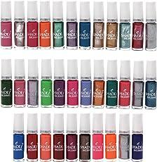 Lifestyle-You® (34 Pcs) Nail Polish Set. Assorted Colours of Regular and Metallic Nail Polishes (6 ml each Bottle)