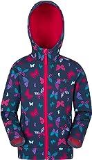 Mountain Warehouse Exodus Softshelljacke mit Print für Kinder - Sommermantel mit Taschen, Jacke mit Fleecefutter in Kapuze, Regenmantel - Gemusterte Übergangsjacke
