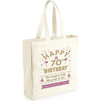 70th Birthday Keepsake Funny Gift For Women Ladies Novelty Female Shopping Bag Present Tote Idea