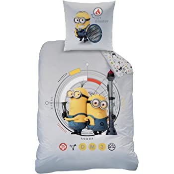 de minions parure de lit d 39 hiver 135 x 200 cm 80 x 80 cm. Black Bedroom Furniture Sets. Home Design Ideas