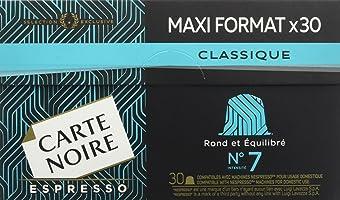 Carte Noire Espresso N7 Classique - 120 Capsules Compatibles Nespresso (Lot de 4 x 30)