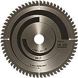 Bosch 2608640514 cirkelsågblad med flera material, 235 mm x 2,4 mm x 30 mm, 64 tänder, blå