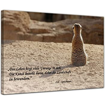 Leinwandbild Mit Zitat Das Leben Zen Sprichwort 80x60