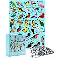 HXMARS Jigsaw Puzzles for Adults Kids: 500-Piece-Puzzle, Puzzles Game for Family- Bird Phonetic Puzzle, Animal Nature…