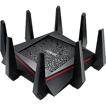 ASUS RT-AC5300 - Router Gaming AC5300 Tri-Banda Gigabit (triple VLAN, Ai-Mesh soportado, WTFast acelerador de juegos, compatible con DD-WRT)