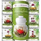 Fiori di tè Teabloom Con foglioline di tè della migliore fioritura - 12 Confezioni - 36 infusioni, 250 tazze - Foglie di tè v