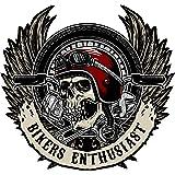Motorcycle Skull Sticker Harley Davidson Style Bike Tank Helmet Pannier Waterproof Stickers Ideal for Motorcycle Panels and T