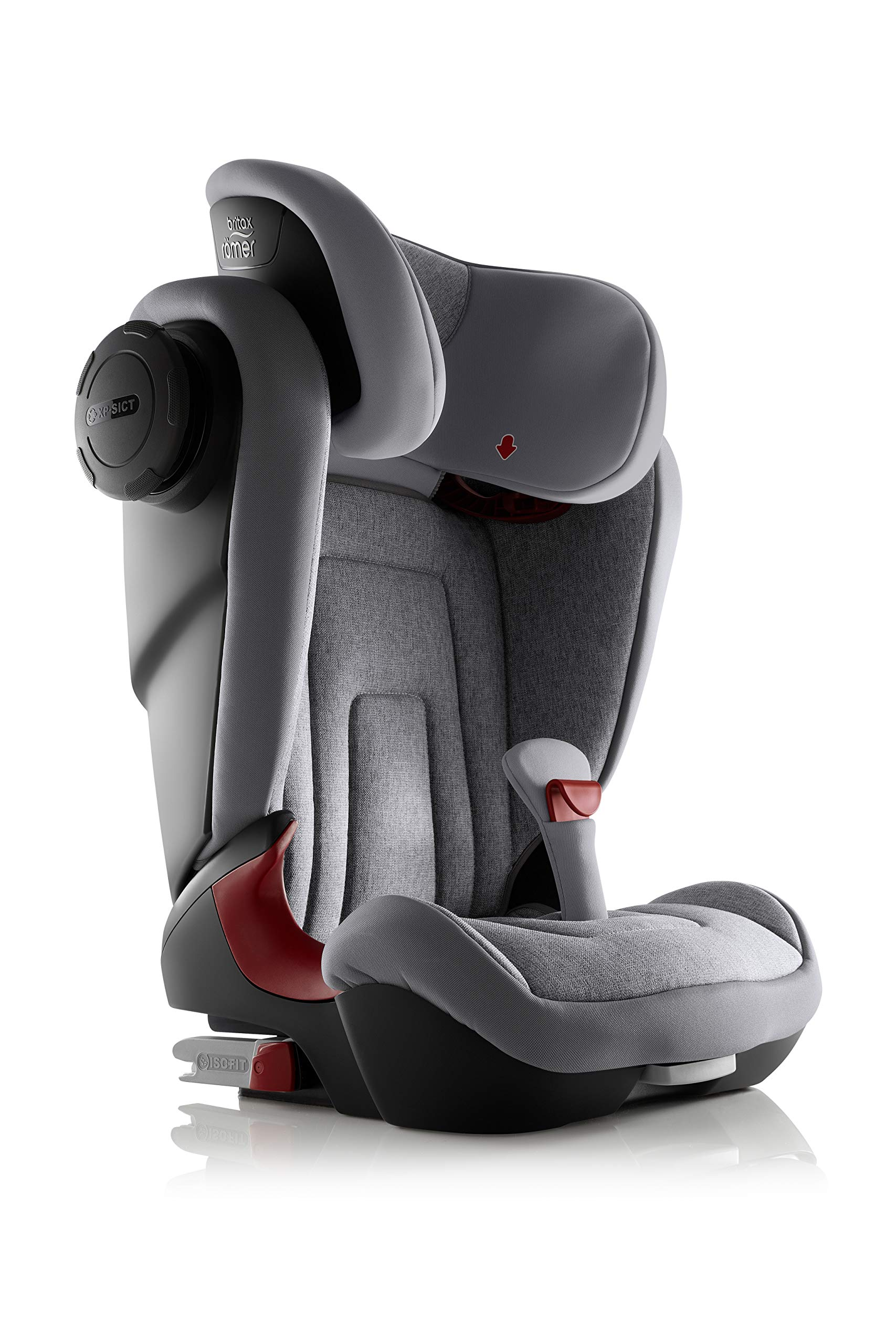 Britax Römer KIDFIX² S Group 2-3 (15-36kg) Car Seat - Grey Marble  Advanced side impact protection - sict offers superior protection to your child in the event of a side collision. reducing impact forces by minimising the distance between the car and the car seat. Secure guard - helps to protect your child's delicate abdominal area by adding an extra - a 4th - contact point to the 3-point seat belt. High back booster - protects your child in 3 ways: provides head to hip protection; belt guides provide correct positioning of the seat belt and the padded headrest provides safety and comfort. 4