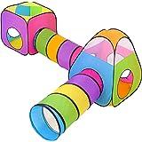 NUBUNI 4 en 1 Tienda Campaña Infantil : 2 Casitas Tela + 2 Tunel de Juego para niños : Plegable Parque Bebe Bolas Infantil Ja