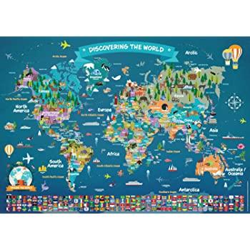 Large Illustrated Wall Map Poster for Kids Kids Room Poster ... on glider map, statue map, inverted map, glass map, go to the map, palace map, border map, magnetic map, large map, world map, trench map, floor map, desk map, plant map, plate map, atlas map, home map, green map, englewood map, step map,