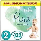 Pampers Pure Protection Windeln, Gr. 2, 4kg-8kg, Halbmonatsbox (1 x 132 Windeln)