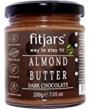 FITJARS All Natural Almond Butter with Dark Chocolate, 200 g (Almond Butter 80%, Dark Chocolate 20% Breakfast Vegan Diet…