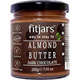 FITJARS SIGNATURE BUTTERS (FITJARS Almond Butter with Dark Chocolate -200gm, )Natural Butter Spread
