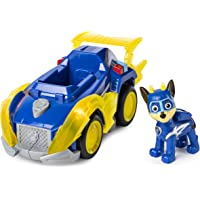 PAW Patrol 6054192 - Mighty Pups Super Paws Polizeiwagen mit Chase-Figur (Basic Themed Vehicle)