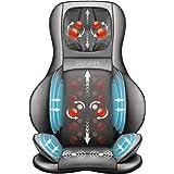 Comfier Massaggiatore Schiena e Collo con Compressione d'Aria, Shiatsu Massaggiatore Elettrico con Calore e rotolamento, Sedi