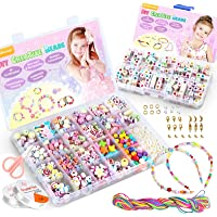 WinWonder Bricolage Perles Set,1150 PCS Bracelets Bricolage Colliers Perles La Fabrication De Bijoux Perles Plastique…