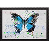 Saumic Craft Butterflies Multicolor UV Coated Framed Painting for Home Decoration and Gifting with A Free Special Present Ins